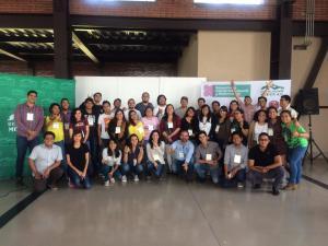 Jóvenes que participaron en el Primer Encuentro de colectividad juvenil y biodiversidad, México DF