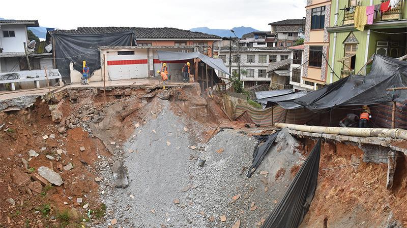 foto afectaciones en Zaruma por minería crédito= diario el ciudadano