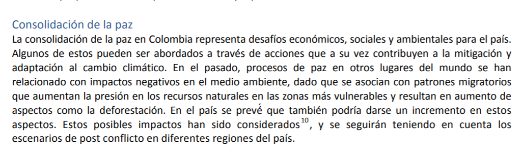 Consolidación Paz - INDC Colombia