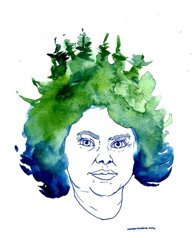 Berta Cáceres: una expresión artística de la artista local hondureña: Andrea Fonseca Chain